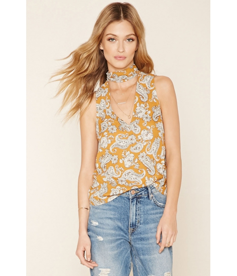 Imbracaminte Femei Forever21 Contemporary Paisley Floral Top Gingerivory