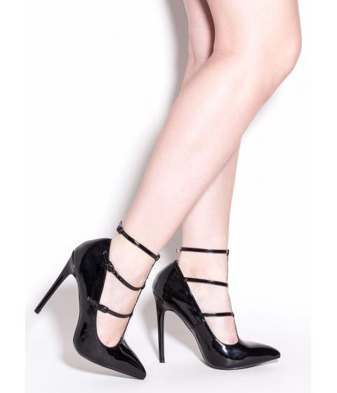 Incaltaminte Femei CheapChic Touch Of Elegance Pointy Strappy Pumps Black