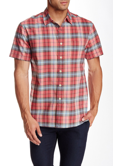 Imbracaminte Barbati Grayers Orleigh Short Sleeve Regular Fit Shirt RED BLUE PLAID