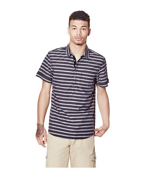 Imbracaminte Barbati GUESS Cardenas Slim-Fit Striped Shirt concrete grey