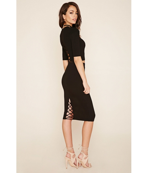 Imbracaminte Femei Forever21 Ribbed Knit Pencil Skirt Black