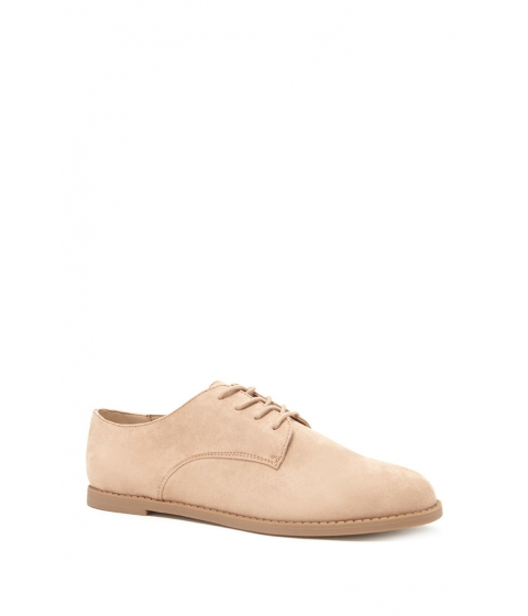 Incaltaminte Femei Forever21 Faux Suede Oxfords Taupe