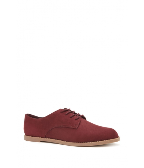 Incaltaminte Femei Forever21 Faux Suede Oxfords Wine