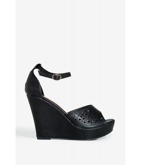 Incaltaminte Femei CheapChic Berlinda-1 Spring Crush Wedge Black