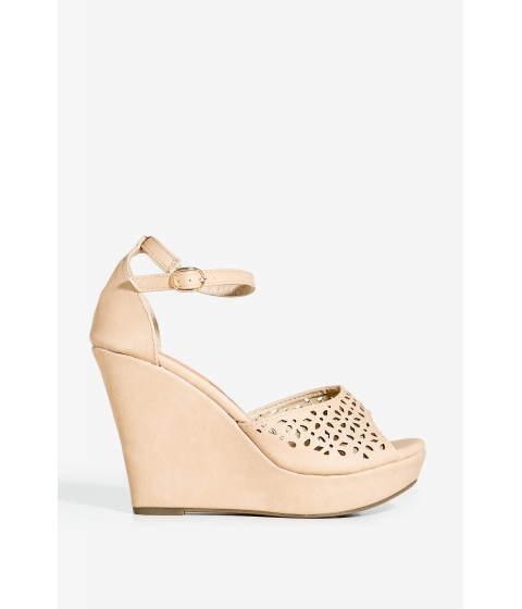 Incaltaminte Femei CheapChic Berlinda-1 Spring Crush Wedge Nude