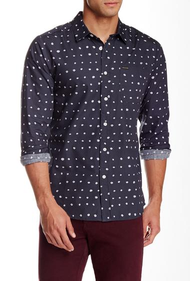 Imbracaminte Barbati Volcom Volka Dot Long Sleeve Slim Fit Shirt CHARCOAL