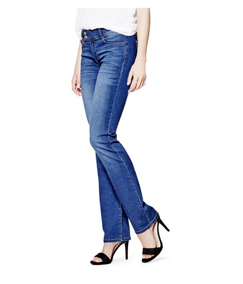 Imbracaminte Femei GUESS Kanasia Low-Rise Straight Jeans medium wash