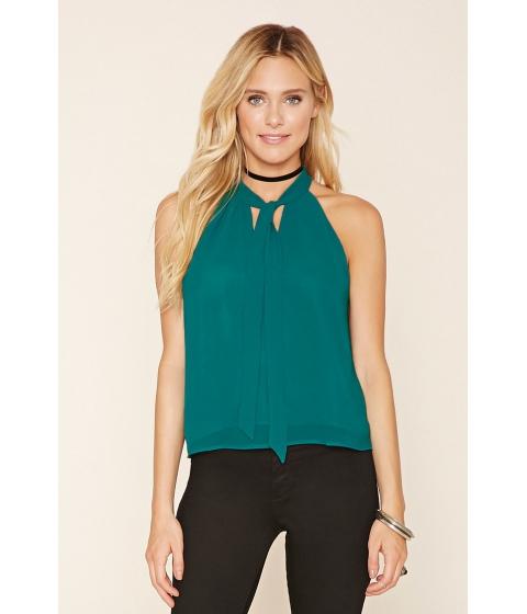 Imbracaminte Femei Forever21 Tie-Neck Halter Top Green