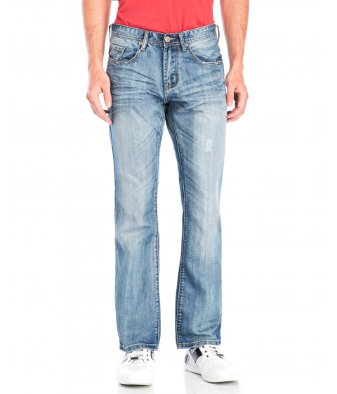 Imbracaminte Barbati Buffalo David Bitton King Slim Bootcut Jeans Stone