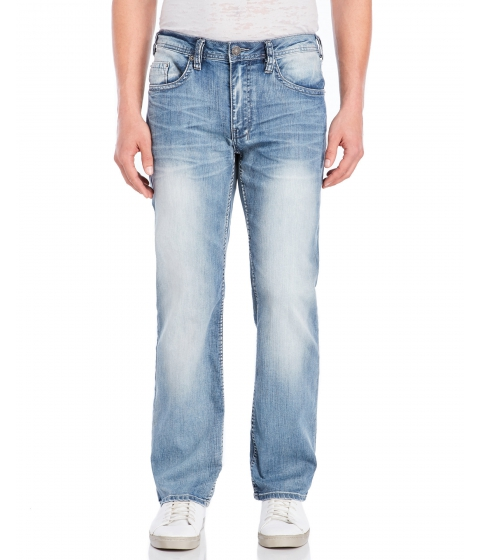 Imbracaminte Barbati Buffalo David Bitton Driven-X Straight Stretch Jeans Indigo