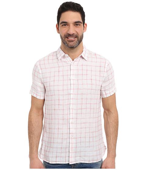Imbracaminte Barbati Perry Ellis Linen Check Pattern Shirt Bossa Nova