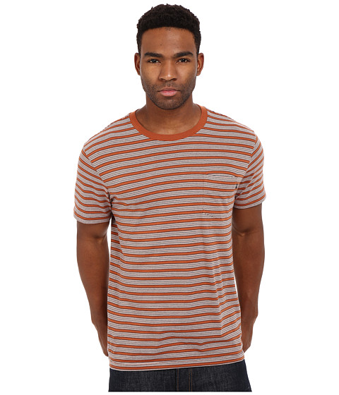 Imbracaminte Barbati Obey County Pocket Tee Burnt Sienna Multi