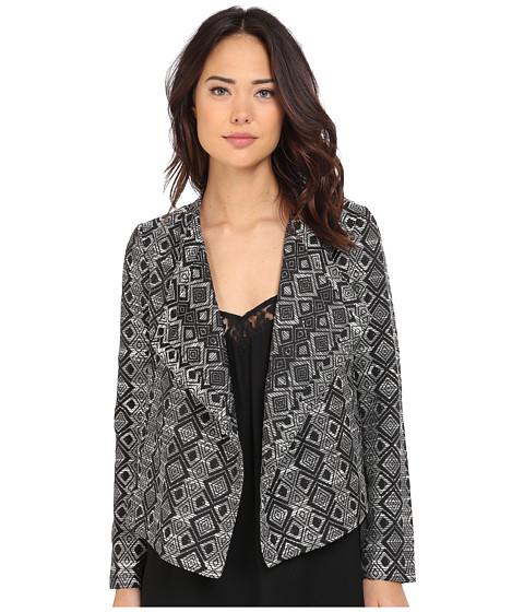 Imbracaminte Femei BB Dakota Penelope Woven Jacquard Draped Front Jacket Black