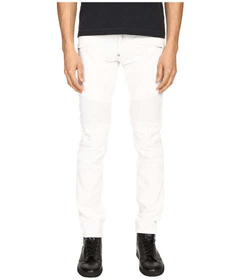 Imbracaminte Barbati Philipp Plein Highway Biker Straight Denim Intimate White