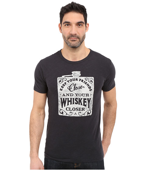 Imbracaminte Barbati Lucky Brand Whiskey Flask Graphic Tee Jet Black