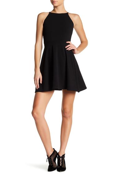 Imbracaminte Femei LOVEAdy Textured Fit Flare Dress BLACK