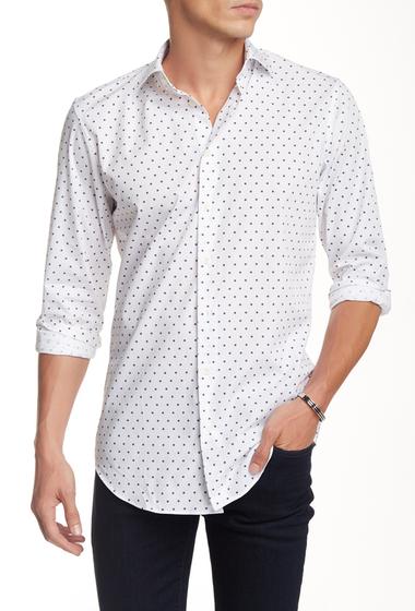Imbracaminte Barbati 14th Union Trim Fit Spread Collar Dress Shirt WHITE