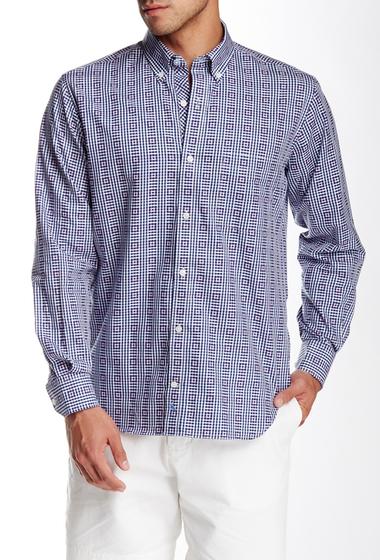 Imbracaminte Barbati TailorByrd Concentric Plaid Long Sleeve Regular Fit Shirt NAVY