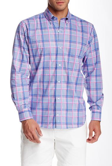 Imbracaminte Barbati TailorByrd Plaid Long Sleeve Shirt DELFT BLUE