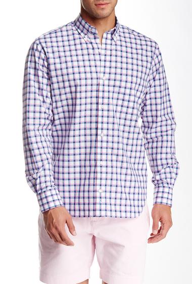 Imbracaminte Barbati TailorByrd Plaid Long Sleeve Shirt FUCHSIA