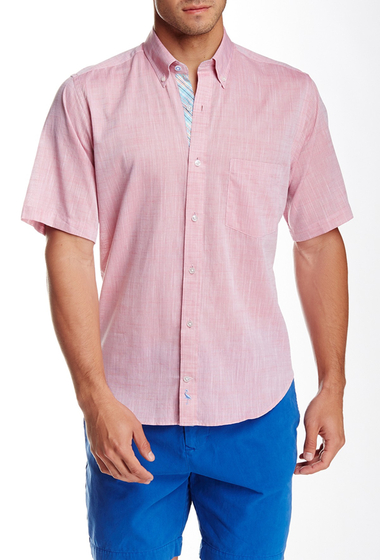 Imbracaminte Barbati TailorByrd Woven Short Sleeve Shirt RED