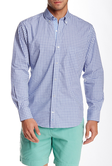 Imbracaminte Barbati TailorByrd Plaid Long Sleeve Shirt COBALT
