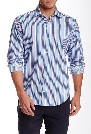 Imbracaminte Barbati TailorByrd Stripe Long Sleeve Shirt ORANGEADE