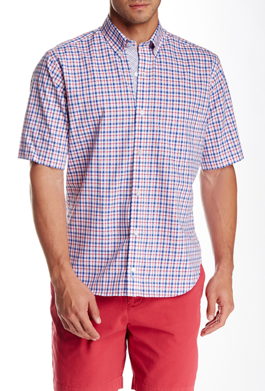 Imbracaminte Barbati TailorByrd Plaid Short Sleeve Shirt RED