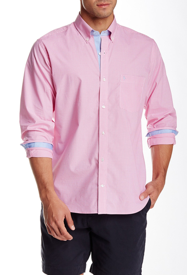 Imbracaminte Barbati TailorByrd Gingham Long Sleeve Shirt FUCHSIA