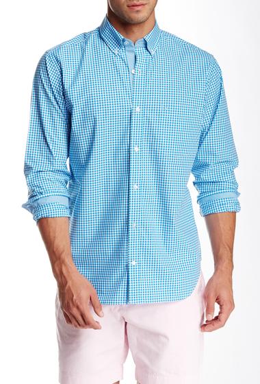 Imbracaminte Barbati TailorByrd Gingham Long Sleeve Shirt TURQ