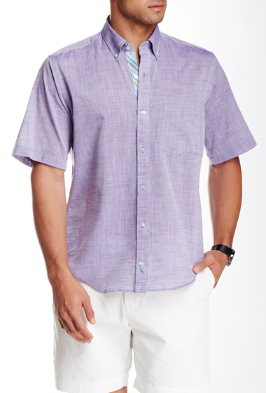 Imbracaminte Barbati TailorByrd Woven Short Sleeve Shirt PURPLE