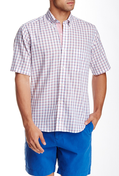 Imbracaminte Barbati TailorByrd Graph Plaid Short Sleeve Shirt RED
