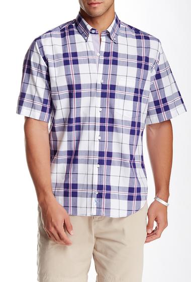 Imbracaminte Barbati TailorByrd Plaid Short Sleeve Shirt NAVY