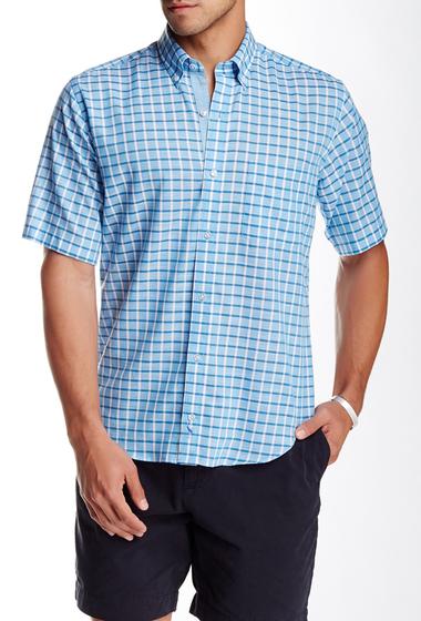 Imbracaminte Barbati TailorByrd Plaid Short Sleeve Shirt BLUE