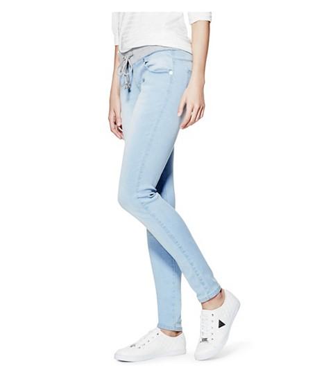 Imbracaminte Femei GUESS Meilani Ribbed-Waistband Skinny Jeans light wash