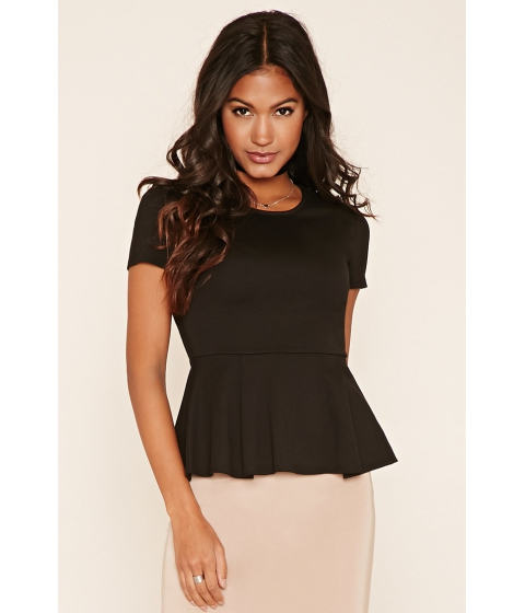 Imbracaminte Femei Forever21 Pleated Peplum Top Black
