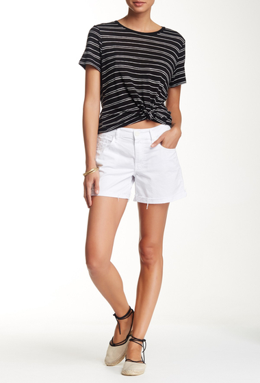 Imbracaminte Femei MOTHER Dropout Cuff Short White