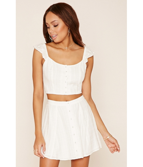 Imbracaminte Femei Forever21 Buttoned Mini Skirt Ivory