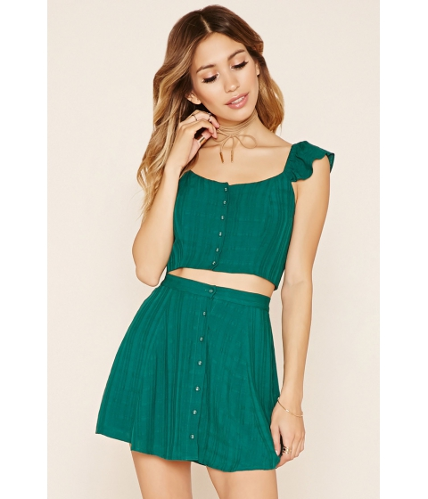 Imbracaminte Femei Forever21 Buttoned Mini Skirt Emerald