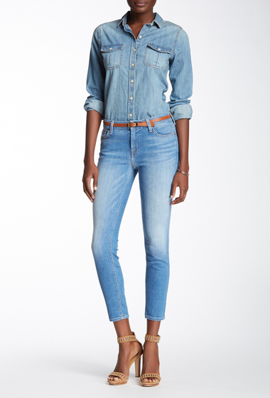 Imbracaminte Femei 7 For All Mankind The Ankle Skinny Jean VIVDATHBLU