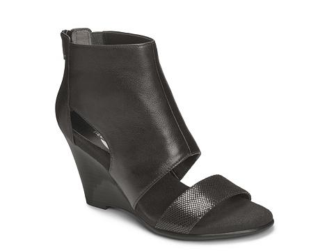 Incaltaminte Femei Aerosoles High Gloss Wedge Sandal Black