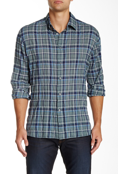 Imbracaminte Barbati Star USA By John Varvatos Plaid Trim Fit Shirt ALGAE