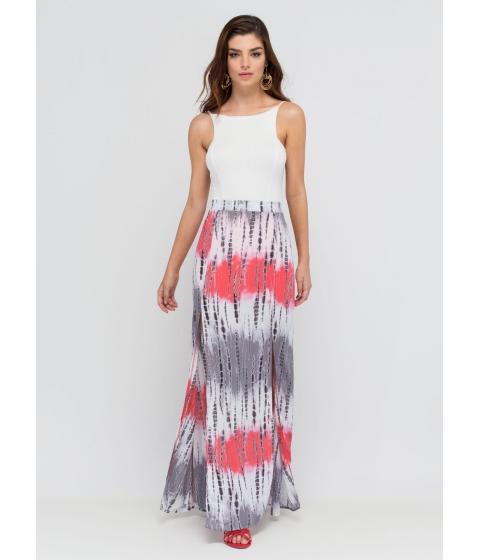 Imbracaminte Femei CheapChic Tie-dye Ta-da Double Slit Maxi Skirt Pink
