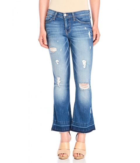 Imbracaminte Femei Flying Monkey Let Out Crop Flare Jeans Medium Wash