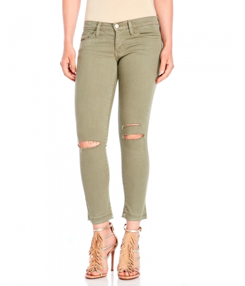 Imbracaminte Femei Flying Monkey Olive Ripped Knee Jeans Olive