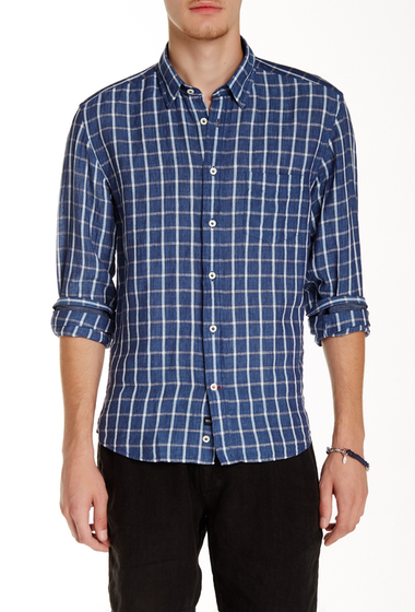 Imbracaminte Barbati Benson New York Plaid Linen Relaxed Fit Long Sleeve Shirt Plaid