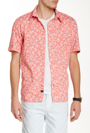 Imbracaminte Barbati Benson New York Floral Print Relaxed Fit Short Sleeve Shirt Red