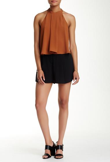 Imbracaminte Femei Pastry Pleat Front Silk Blend Soft Short BLACK