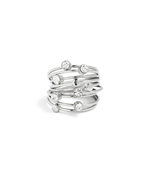 Bijuterii Femei GUESS Silver-Tone Thin Stacked Ring Set silver