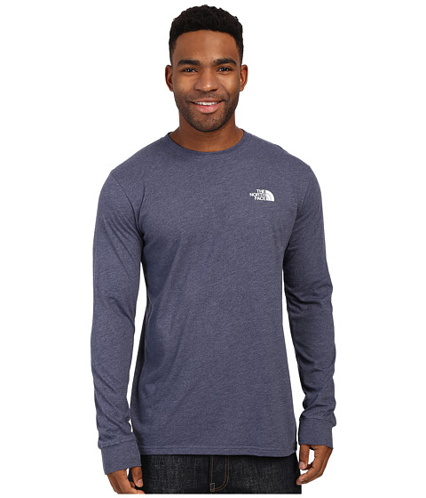 Imbracaminte Barbati The North Face Long Sleeve Red Box Tee Cosmic Blue HeatherMid Grey